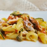 Tuffellas (home-made fresh pasta) with smoked barracuda